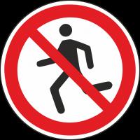 """Aufkleber """"Laufen verboten"""""""