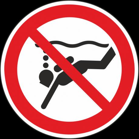 """Aufkleber """"Geräte-Tauchen verboten"""""""