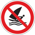 "Aufkleber ""Windsurfen verboten"""