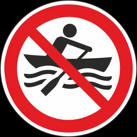 """Aufkleber """"Muskelbetriebene Boote verboten"""""""