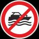 """Aufkleber """"Maschinenbetriebene Boote verboten"""""""