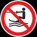 """Aufkleber """"Wasserski-Aktivitäten verboten"""""""
