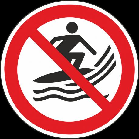 """Aufkleber """"Surfen verboten"""""""