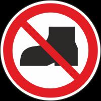 """Aufkleber """"Tragen von Straßenschuhen verboten"""""""