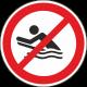 "Aufkleber ""Bodyboarden verboten"""