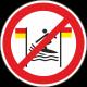 """Aufkleber """"Surfen zwischen rot-gelber Flagge verboten"""""""