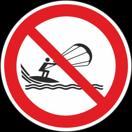 "Aufkleber ""Kitesurfen verboten"""