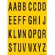 Buchstabenaufkleber, Gelb - Schwarz, Alphabet