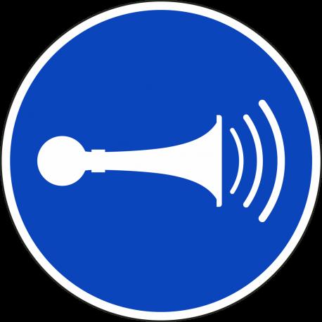 """Aufkleber """"Akustisches Signal geben"""""""