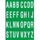 Buchstabenaufkleber, Grün - Weiß, Alphabet