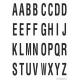 Buchstabenaufkleber, Weiß - Schwarz, Alphabet