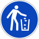 """Aufkleber """"Abfallbehälter benutzen"""""""
