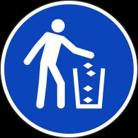 """Aufkleber """"Abfall entsorgen"""""""