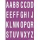 Buchstabenaufkleber, Lila - Weiß, Alphabet