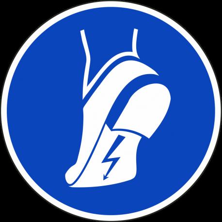 """Aufkleber """"Antistatisches Schuhwerk benutzen"""""""
