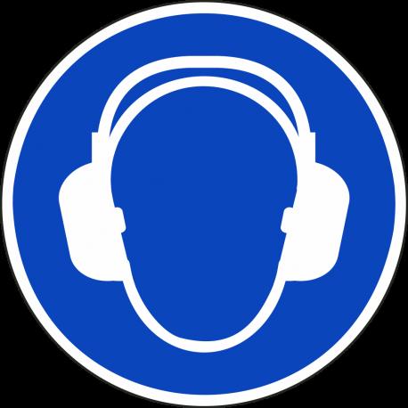 """Aufkleber """"Gehörschutz benutzen"""""""