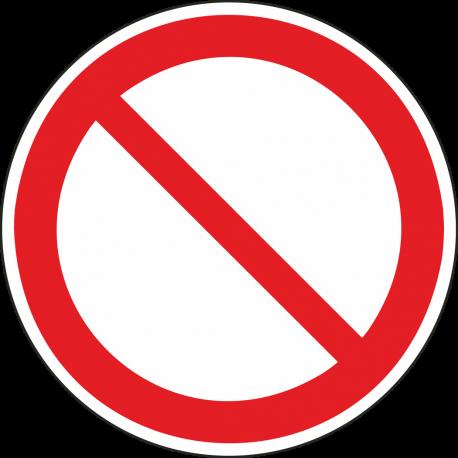 """Aufkleber """"allgemeines Verbotszeichen"""""""