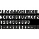 Buchstabenaufkleber, Schwarz - Weiß, identischer Buchstabe