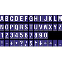 Buchstabenaufkleber, Blau - Weiß, identischer Buchstabe