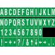 Buchstabenaufkleber, Grün - Weiß, identischer Buchstabe