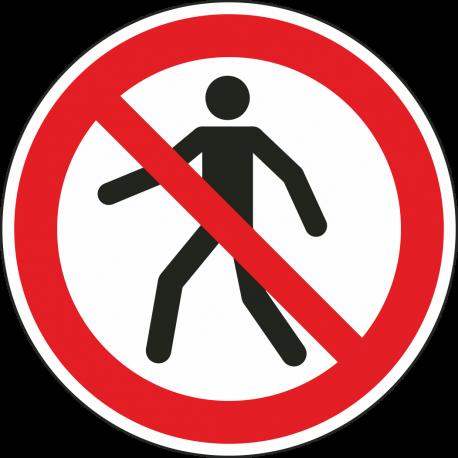 """Aufkleber """"Für Fußgänger verboten"""""""