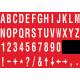 Buchstabenaufkleber, Rot - Weiß, identischer Buchstabe