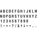 Buchstabenaufkleber, Weiß - Schwarz, identischer Buchstabe