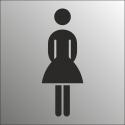 Schilder Damentoilette (Edelstahl Look)