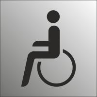 Schilder Behindertentoilette (Edelstahl Look)