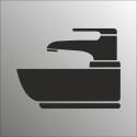 Schilder Waschbecken (Edelstahl Look)