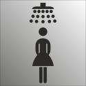 Schilder Damendusche (Edelstahl Look)