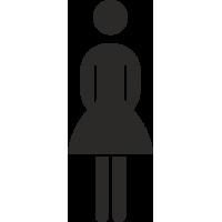 Damentoilette-Aufkleber (ohne Hintergrund)