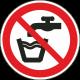 """Aufkleber """"kein Trinkwasser"""""""