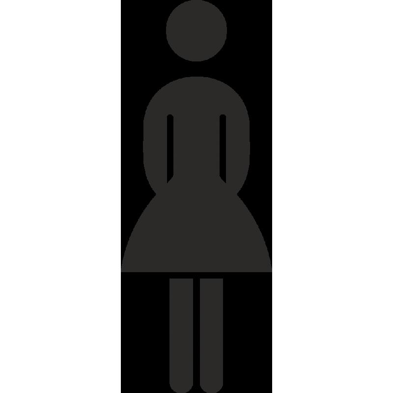 Damentoilette Aufkleber Ohne Hintergrund Für Innen Und Außen