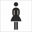 Damentoilette Aufkleber (mit Hintergrund)