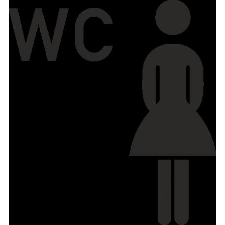 Damen-WC-Aufkleber (ohne Hintergrund)