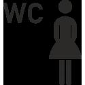 Damen WC Aufkleber (ohne Hintergrund)