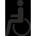Behindertentoilette Aufkleber (ohne Hintergrund)