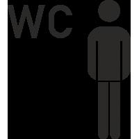 Herren WC Aufkleber (ohne Hintergrund)