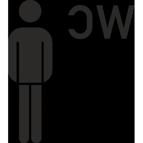 Herren-WC-Aufkleber (ohne Hintergrund)