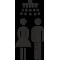 Gemeinschaftsdusche Aufkleber (ohne Hintergrund)