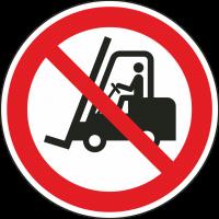 """Aufkleber """"für Flurförderzeuge verboten"""""""