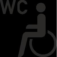 Behinderten WC Aufkleber (ohne Hintergrund)