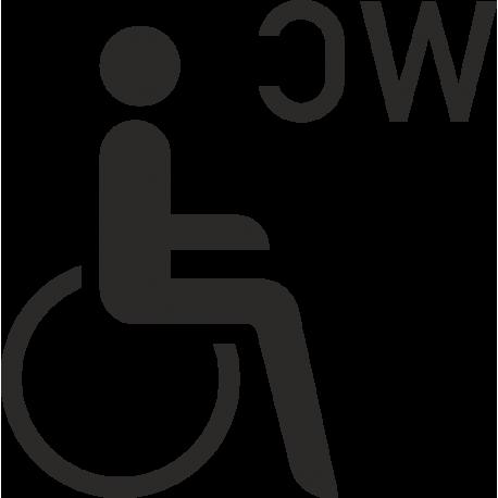 Behinderten-WC-Aufkleber (ohne Hintergrund)