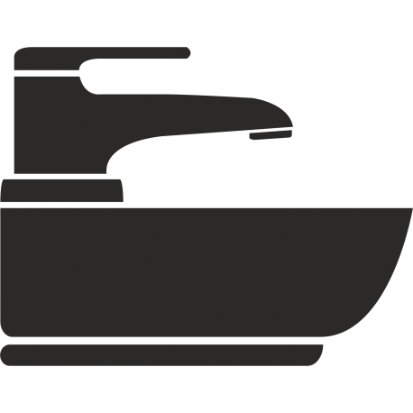 Waschbecken-Aufkleber (ohne Hintergrund)