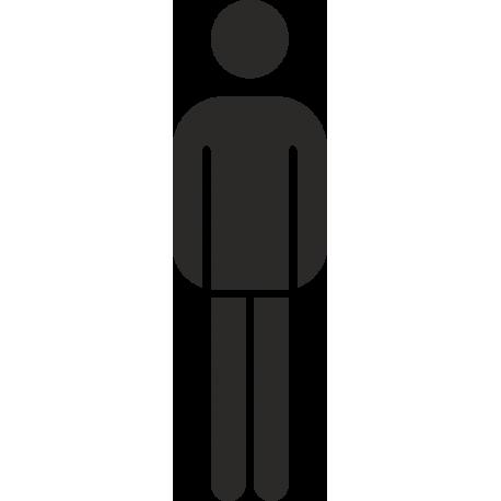 Herrentoilette-Aufkleber (ohne Hintergrund)