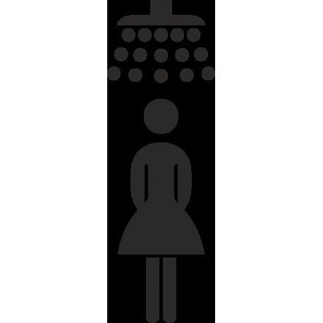 Damendusche-Aufkleber (ohne Hintergrund)