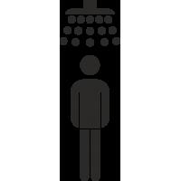 Herrendusche Aufkleber (ohne Hintergrund)