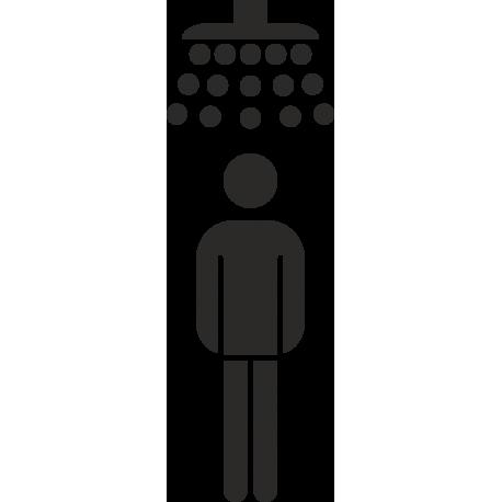 Herrendusche-Aufkleber (ohne Hintergrund)