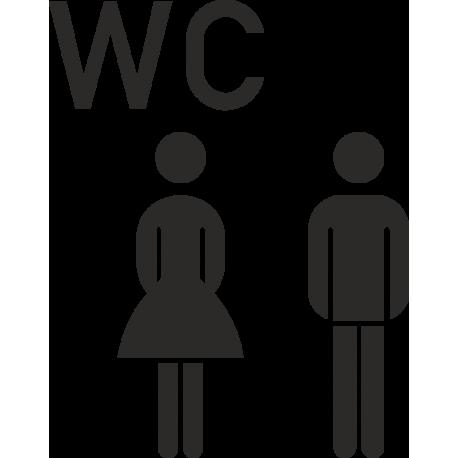 Aufkleber Gemischtes WC (ohne Hintergrund)